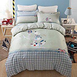 bedding set london british flag flat sheet duvet cover set for queen size bed linen comforter set two pillowcase