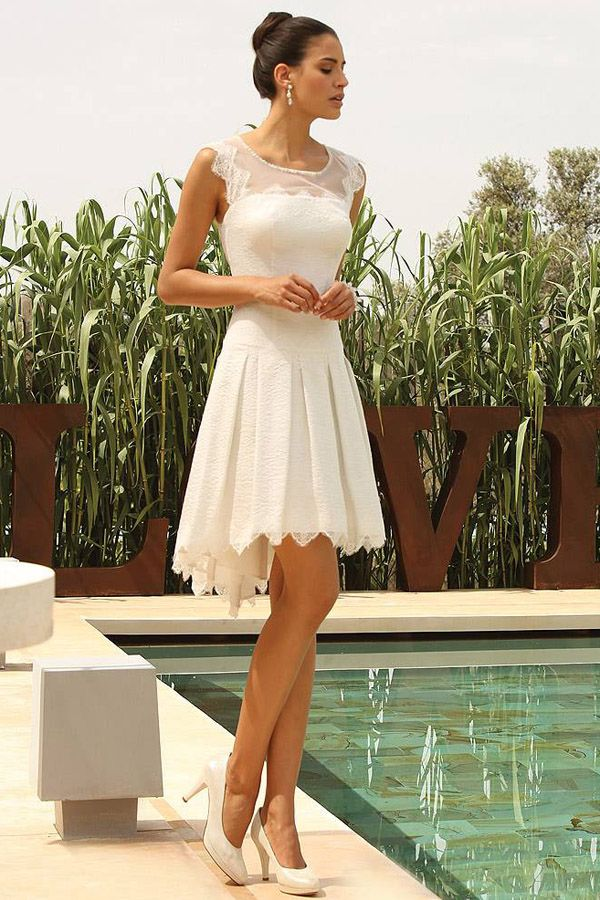 zu Kleid Standesamt auf Pinterest  Brautkleid standesamt, Brautkleid ...