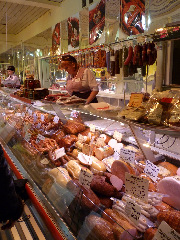 Butcher store in Poland.