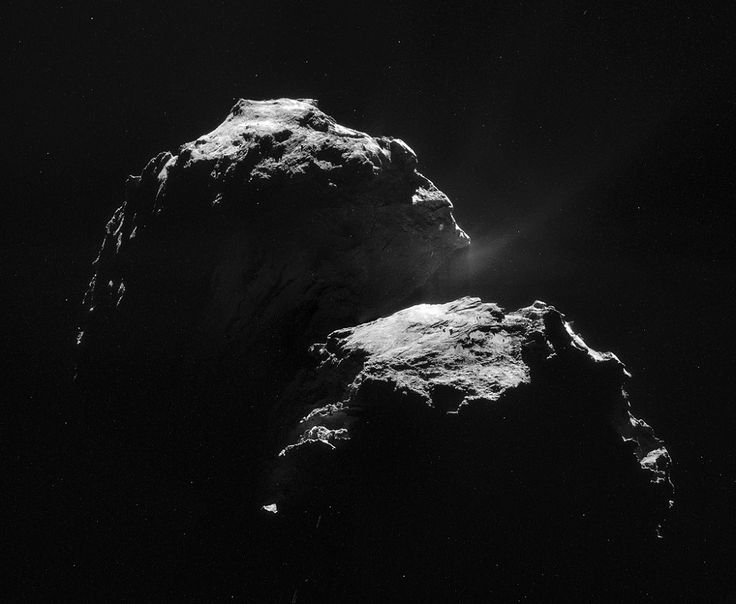 Photos of the comet 67P/Churyumov–Gerasimenko by the Rosetta spacecraft via but does it float.