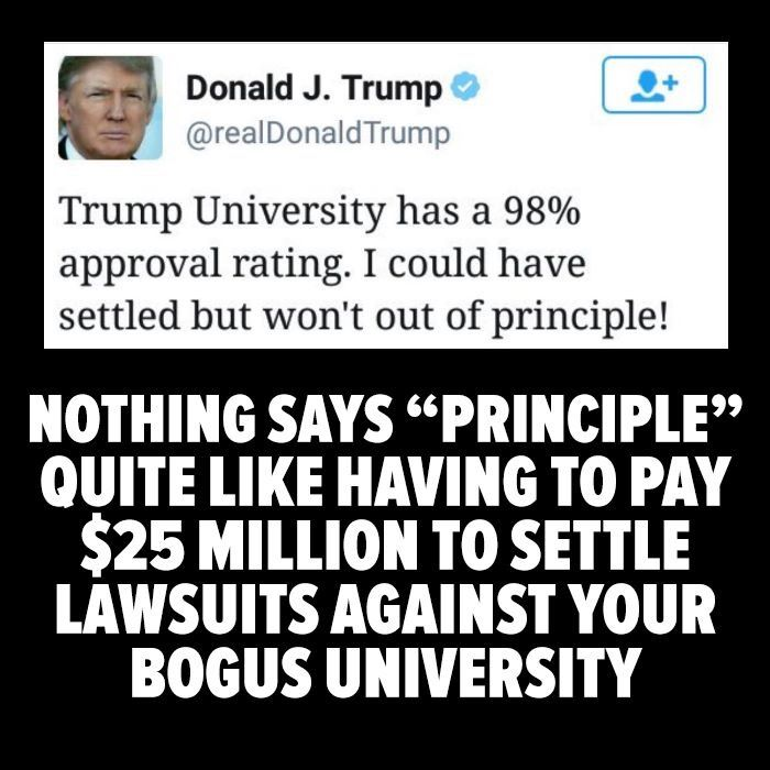 """Trump University"" = Fake University"