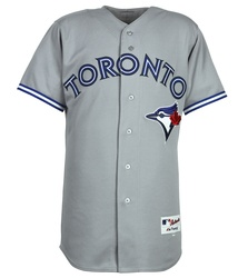 Cheer on your Blue Jays with this authentic road jersey!