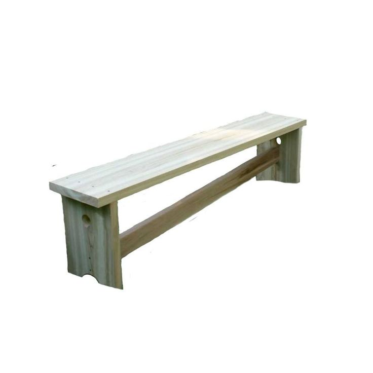 Creekvine Designs, 5 Foot Cedar 1800 Traditional Bench w/ Slant Brace