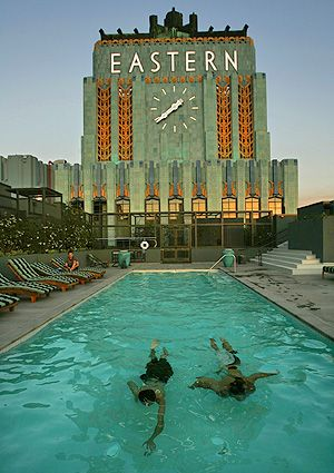 The Iconic Eastern Columbia Building's Pool , Downtown LA