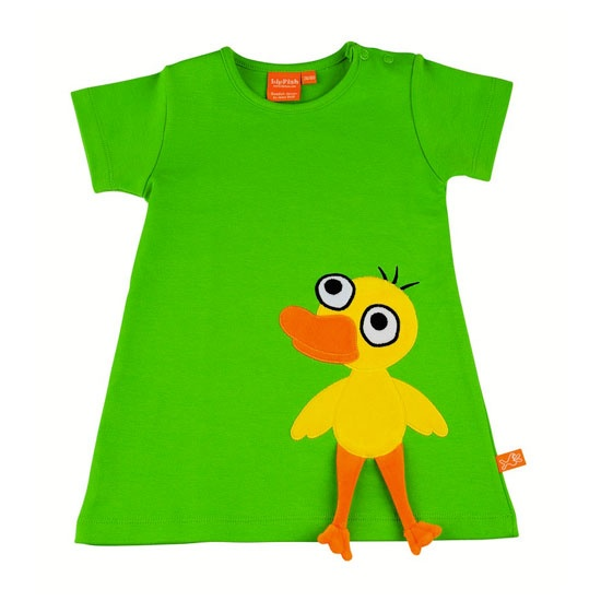 Great dress with a duck on the front. Quack, quack!