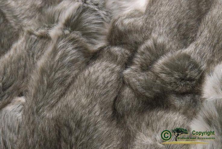 Sehr große Felldecke aus Webpelz grauer Bär in grau und beige Melange 240x260cm online kaufen auf