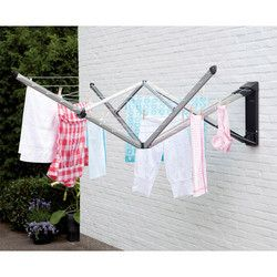 Genius idea, no ugly washing line in the middle of the lawn! Brabantia WallFix, www.brabantia.com