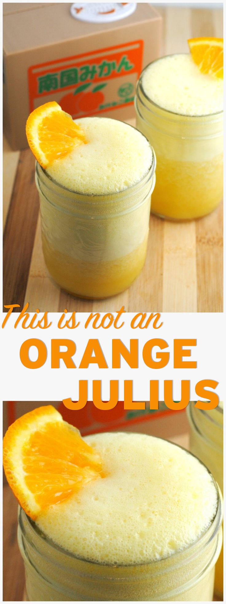 This is not an Orange Julius, but it tastes just as good. This vegan treat is super easy to make and doesn't require anything fancy...besides a good blender! http://theblenderist.com/not-an-orange-julius/