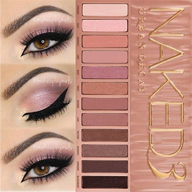 Naked 3. All PINK Doll Makeup Look