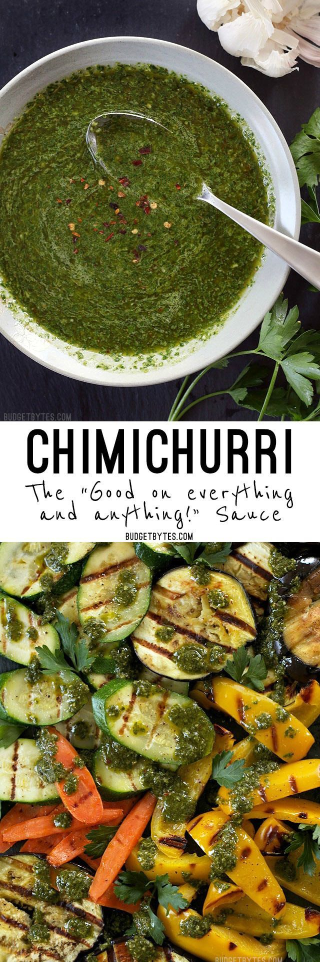 Chimichurri is a vibrant, fresh, and incredibly simple sauce that delivers big flavor to any meal. @budgetbytes