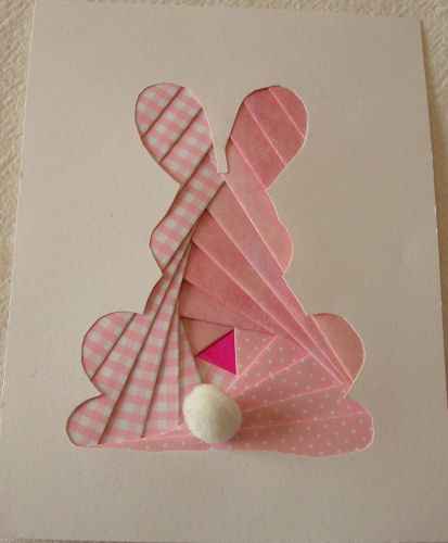 iris folding card making idea for Easter Invitations.    www.JenniferNickertPhotography.com