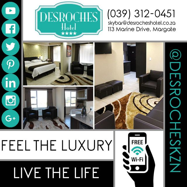 Book your next #holiday at @DesrochesKZN to feel the #luxury #Livethelife you deserve… #KZNSouthCoast #Margate #MeetSouthAfrica #DreamHoliday
