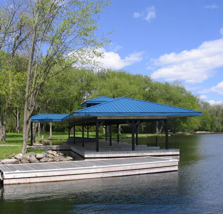 Situated in Ontario's cottage country this boat owner preferred to never fix his boathouse roof again.