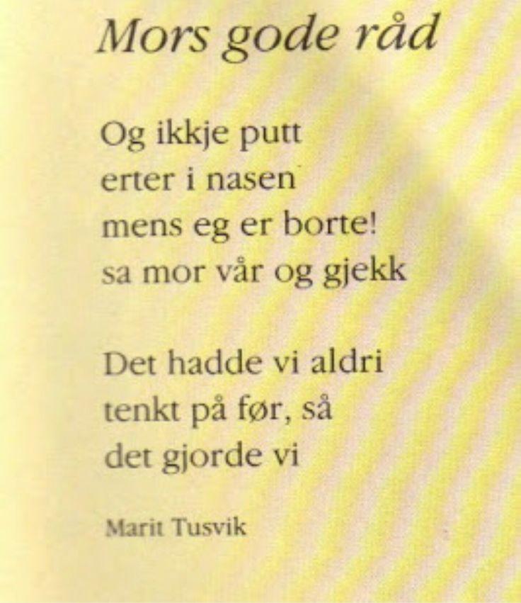 ~Mors gode råd~ Marit Tusvik
