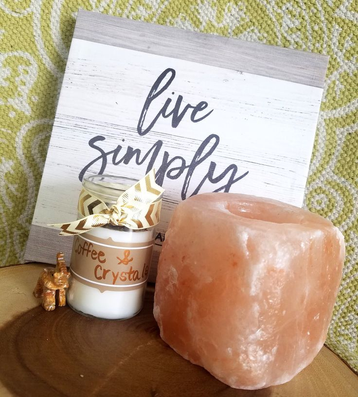 Coffee & Crystals Candle/Coffee candle/coffee lovers gift/housewarming gift/glitter candle/spiritual candle/crystal candle/home decor