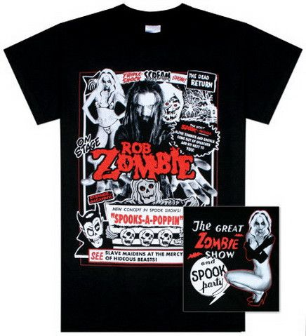 Rob Zombie- Spooks a Poppin T-Shirt