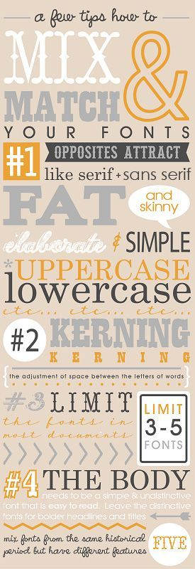 Choosing fonts can be tricky, but we've got your back! Here are 10 infographics to do it like a pro.