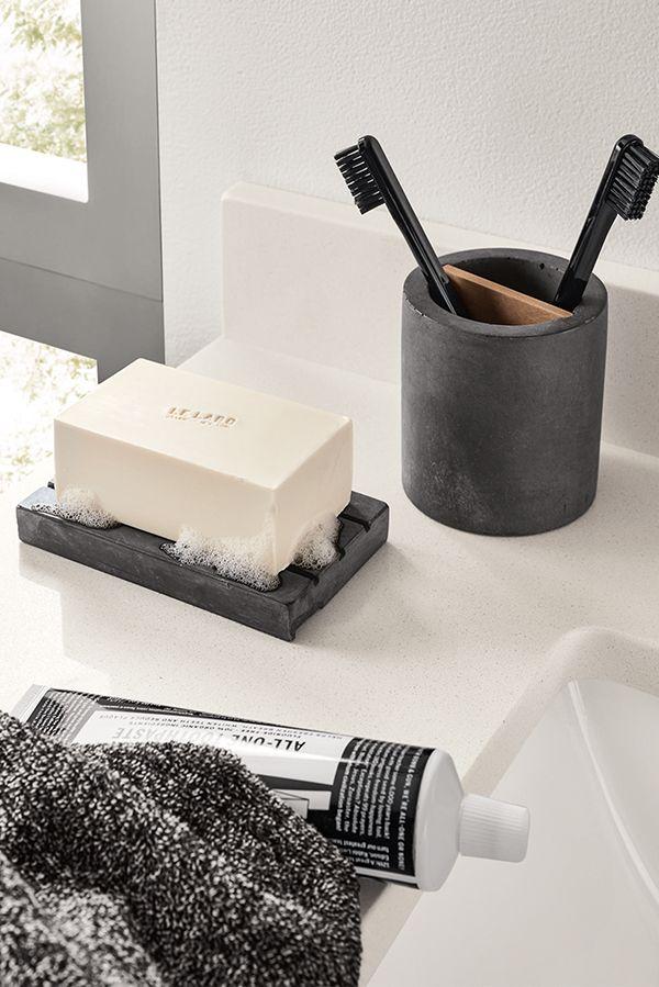 Saco Toothbrush Holder Modern Bath Countertop Organization Modern Bath Furniture Room Board Modern Baths Modern Toothbrush Holders Soap Tray