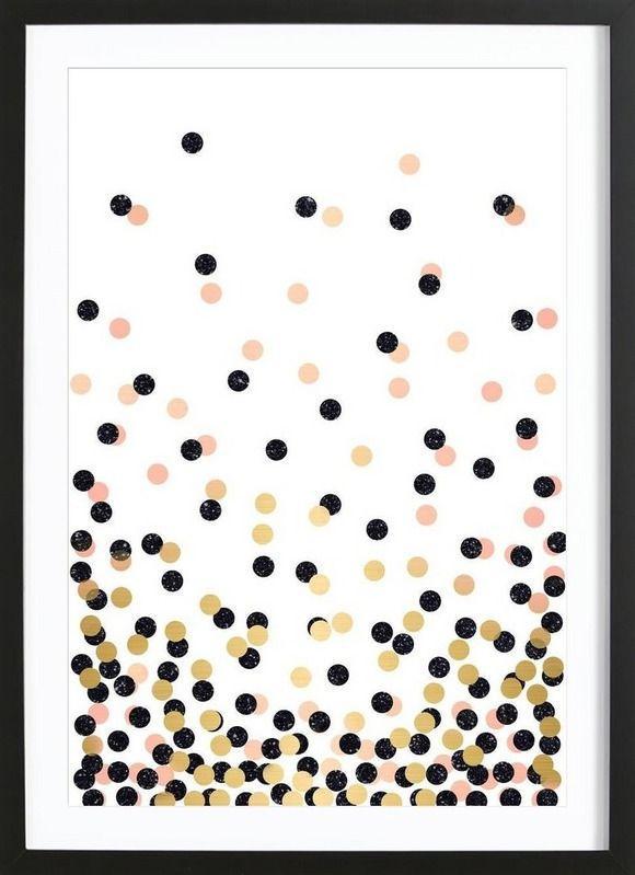 Polka Dots als Gerahmtes Poster von cafelab | JUNIQE