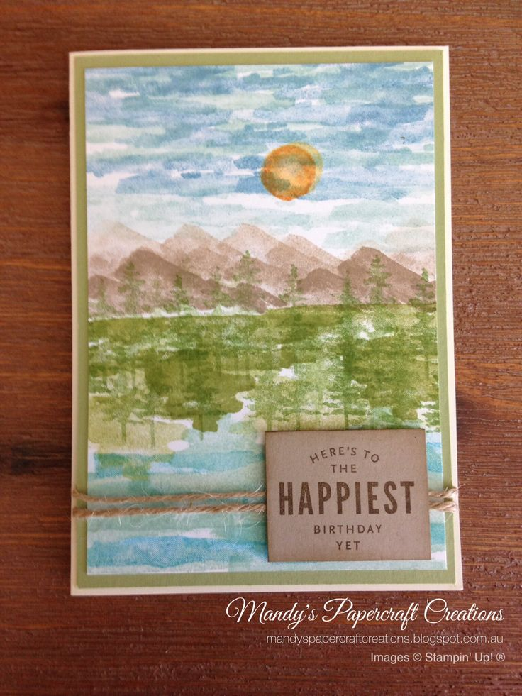 Stampin' Up! Waterfront card - Occasions Catalogue 2018