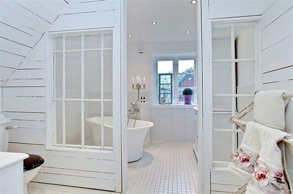 Julias inspiration - Detaljer för lantliga badrum