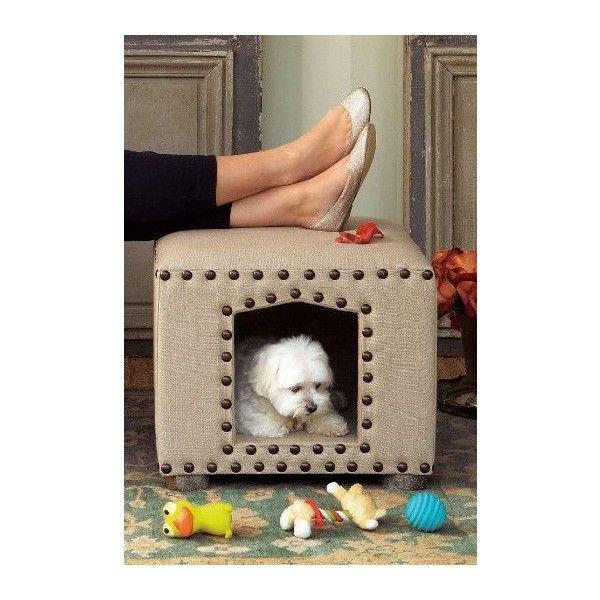 Maggie Ottoman via Polyvore featuring home, furniture, ottomans e dog furniture