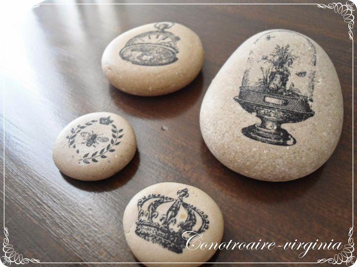 piedras con transferencia