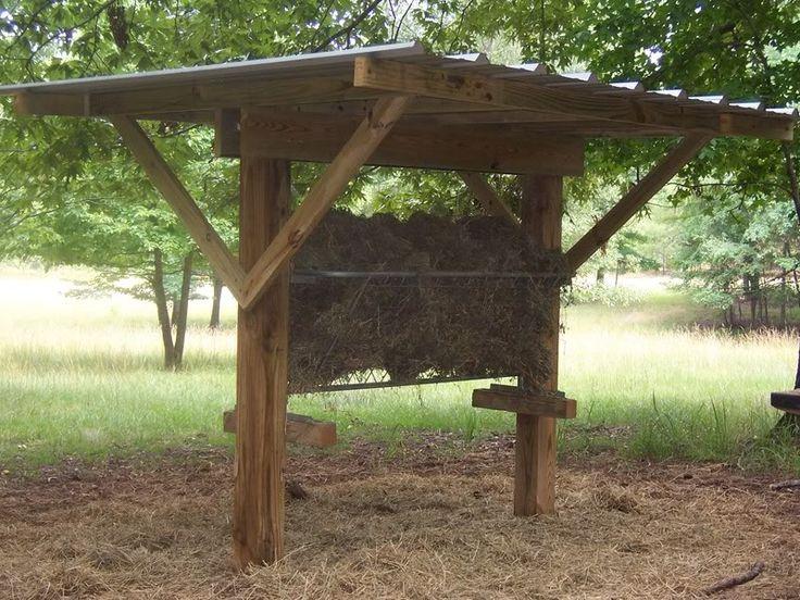 covered feeder   Homestead   Deer feeders, Hay feeder for ...