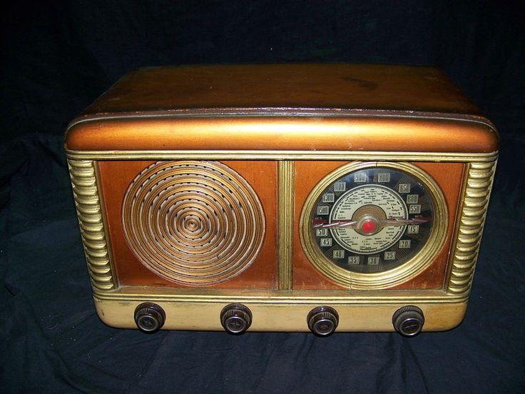 Radio Vintage de madera sin Marca KCS-vintage