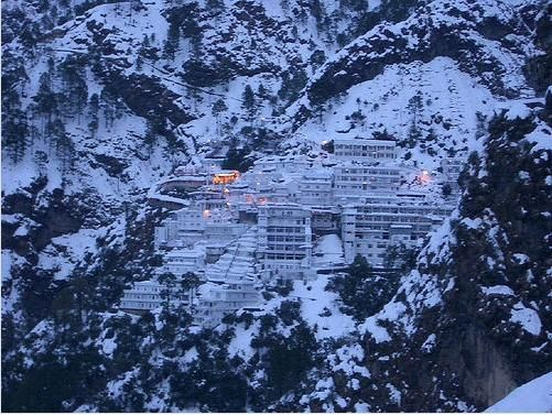 The Vaishno Devi temple in Kashmir...you have to walk all the way up to get there...the faith of the pilgrims is amazing to see!