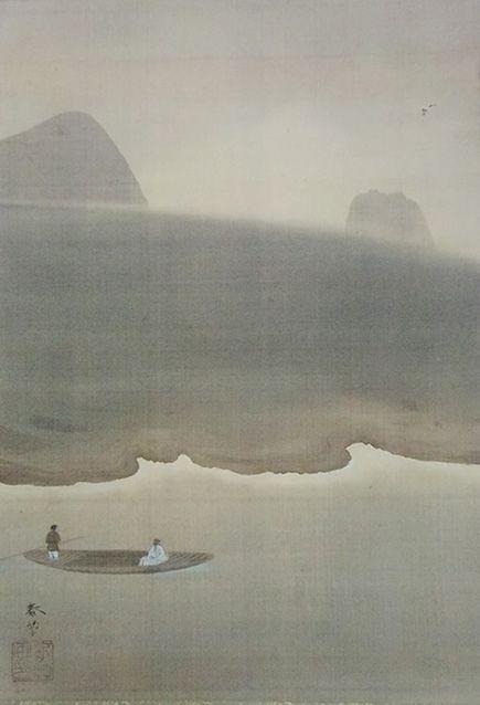 菱田春草 Shunso Hishida『林和靖(りんなせい)』(1900)東京国立近代美術館蔵