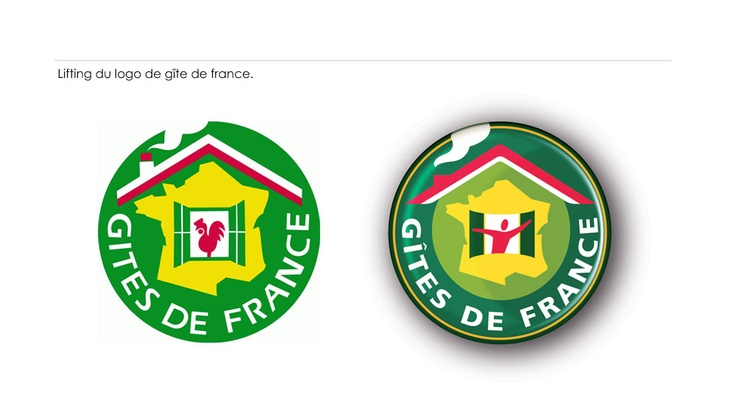 Lifting du logo de gîte de france.