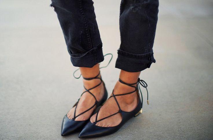 24 best Lace-up flats images on Pinterest