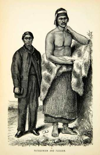 Patagonian Giants, the Ona Tribe. Dr Frederick Cook's photos, and notes: 7 foot…