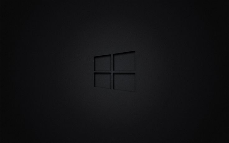 Windows 10 transparent logo on black wallpaper 2560×1600