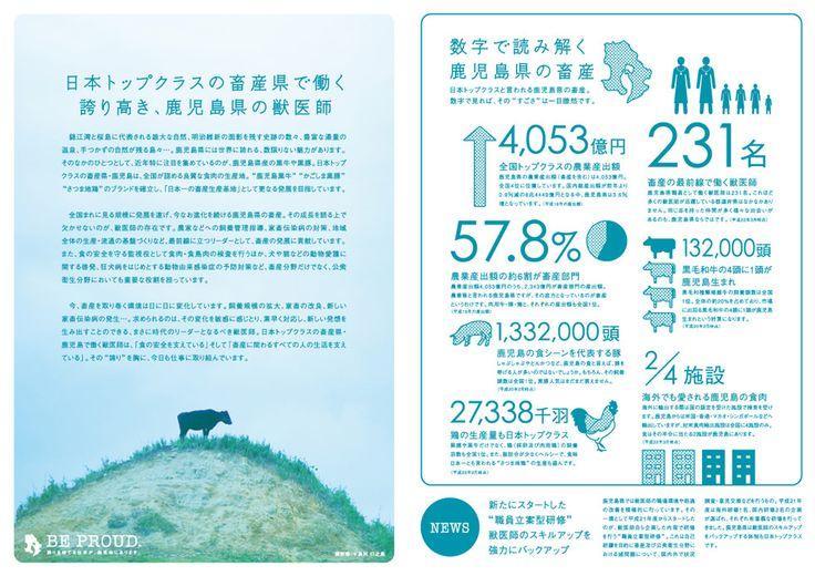 鹿児島県 獣医師募集案内パンフレット | ホームページ制作 パンフレット作成 鹿児島の制作会社クラウド