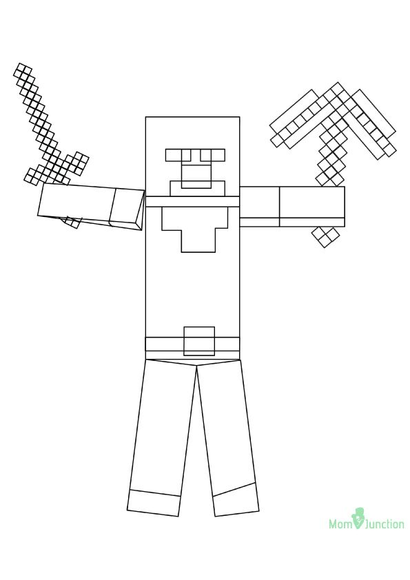Herobrine O 16 Minecraft Coloring Pages Coloring Pages Color