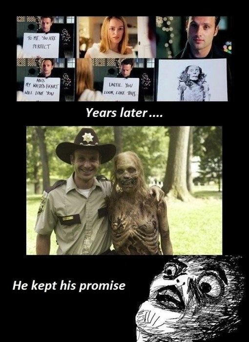 walking dead // love actually  LOL