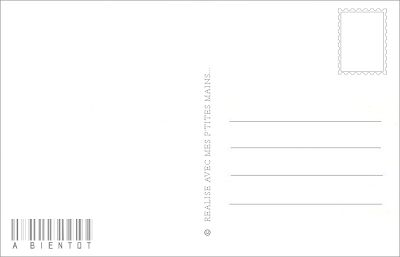 DIGITAL SCRAP : Verso Carte Postale à imprimer