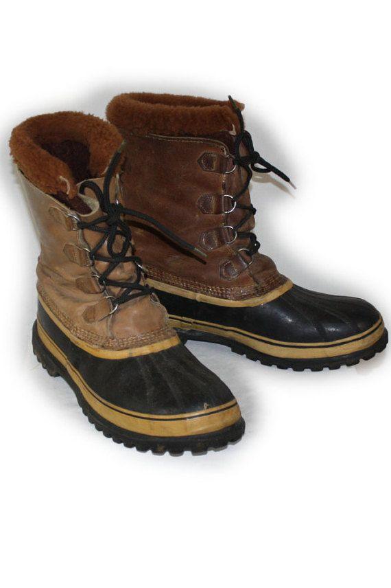 Vintage Men's Boots Sorel CARIBOU Winter Lined by DieVoltVintage