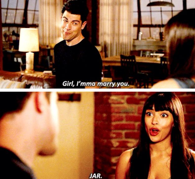 """The moment when Schmidt and Cece met. """"Girl I'm going to Marry you one day"""" JAR Schmidt..."""