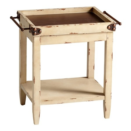 I pinned this Butler Tray Table in Walnut and Distressed White from the Remington & Mills event at Joss and Main!