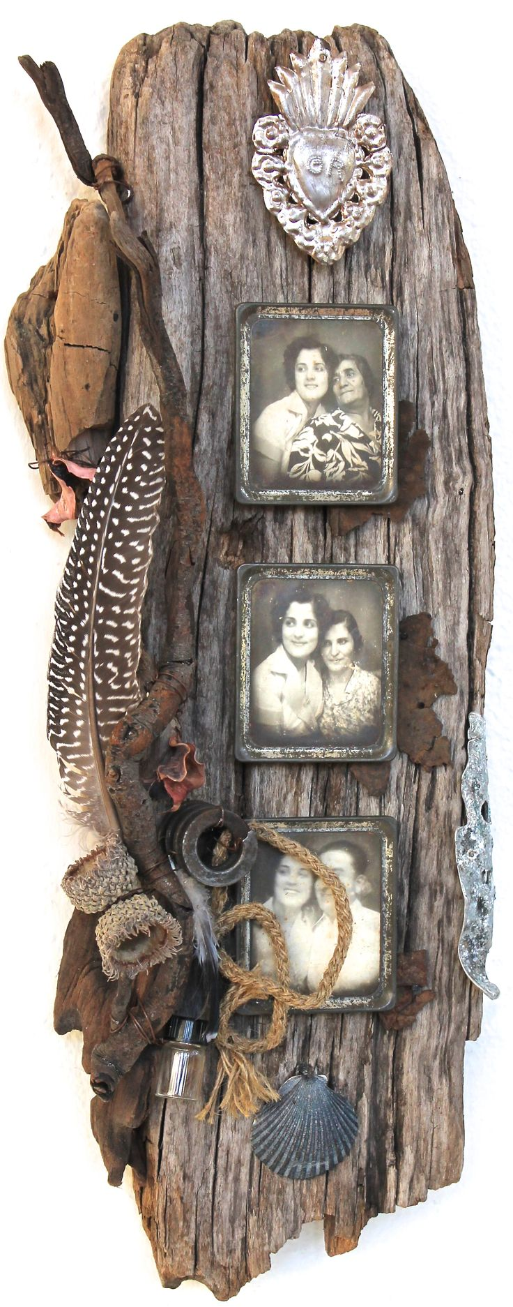 assemblage art by mike bennion - 'tout va bien'