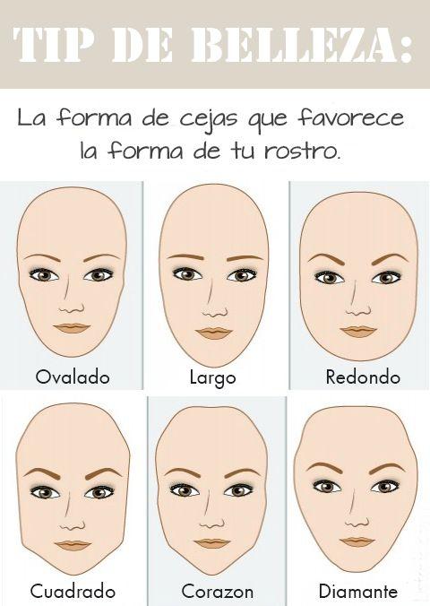 Cejas según la forma de tu rostro #beauty #tips