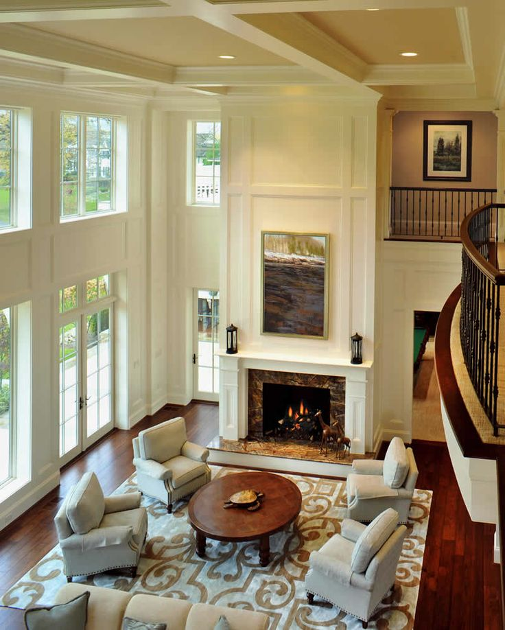 11 best two story family room images on pinterest homes - Does a living room need a fireplace ...