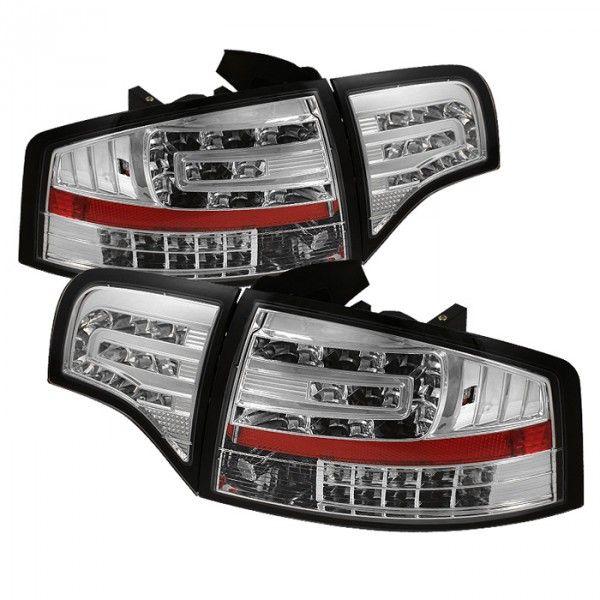 Spyder Auto ALT-YD-AA406-G2-LED-C | 2007 Audi A4 Chrome/Clear LED Taillights for Coupe/Sedan/Hatchback/Wagon