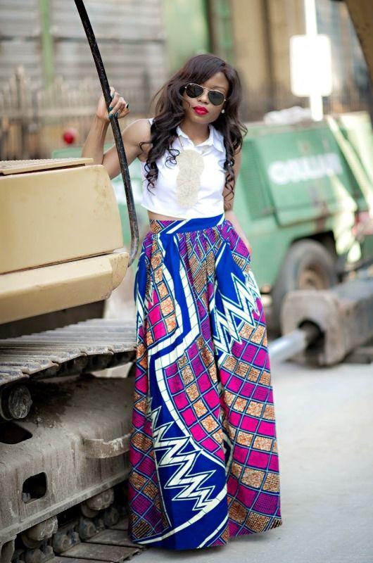 Inspiration – La maxi jupe en pagne | Pagnifik Stella, J'adore Fashion