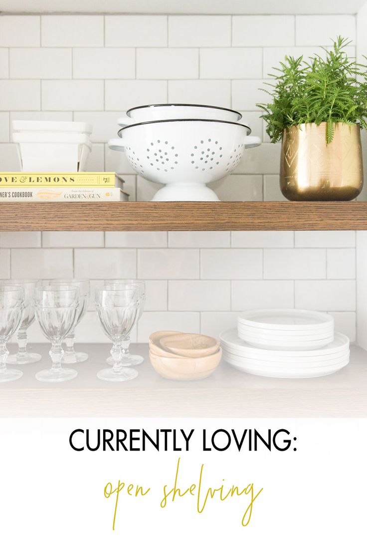 Tips for open shelving in the kitchen