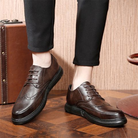 product name men's retro business casual shoes brand