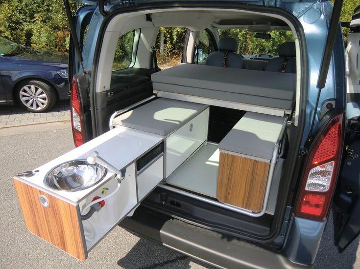 camping module for smaller vans minivan camper conversion truck bed camper bus camper. Black Bedroom Furniture Sets. Home Design Ideas